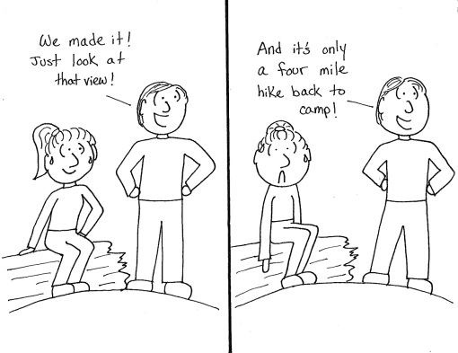 hike cartoon