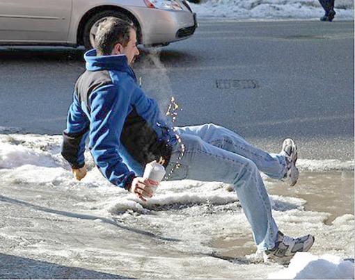 Ice-slip-drink